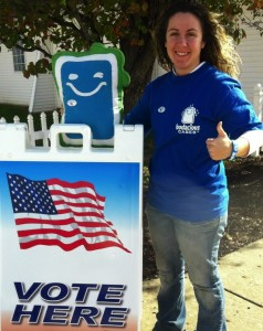 Me and Bo at the Polling Station Election Day Nov. 6, 2012
