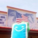 Bo and American flag