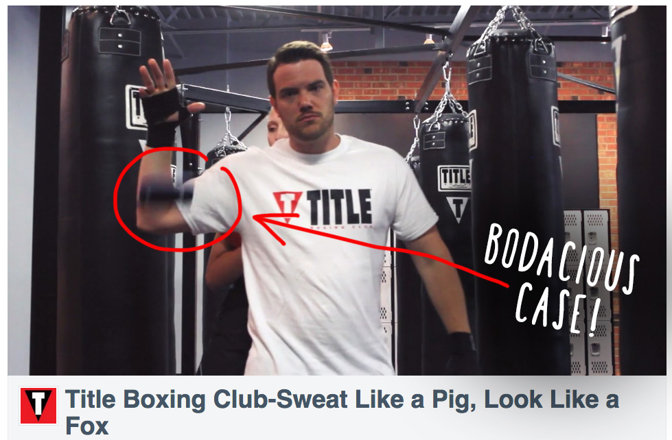 Owner Danny Campbell drops his iphone with Confidence in a Promotional video for his gym, know it is Bodaciously Protected